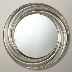 Buy John Lewis Salon Swirl Mirror, Silver, Dia. 76cm Online at johnlewis.com