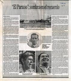 """""""El Paraíso: sombra en el recuerdo"""" Publicado en El Nacional el 15 de agosto de 1993"""