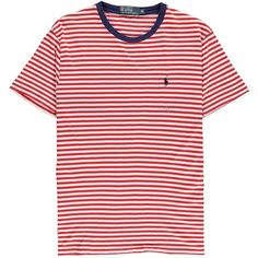 e7994def259 Polo Ralph Lauren Striped Crew Neck T Shirt ( 32) ❤ liked on Polyvore  featuring