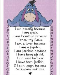Most memorable quotes fromEeyore, a movie based on film. Find important Eeyore and piglet Quotes from film. Eeyore Quotes about winnie the pooh and friends have inspirational quotes. Eeyore Quotes, Winnie The Pooh Quotes, Winnie The Pooh Friends, Disney Winnie The Pooh, Disney Love Quotes, Cute Quotes, Funny Quotes, Qoutes, Disney Poems