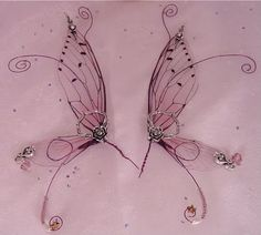 fairy wing tutorial for dolls - wings are very poseable - can customize - made from transparency.....so beautiful....