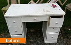 Shop thrift stores, antique stores, and craigslist. If you buy old, well-made furniture and put a little bit of elbow grease into cleaning it up, you can save a lot of money