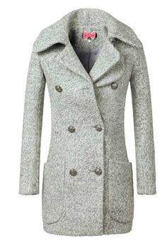 Light Grey Double-breasted Coat