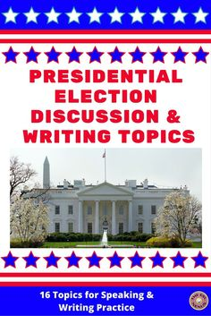 Extend students' learning about how U.S. presidents are elected with these 2 resources: 16 discussion topics on task cards that can also be used for writing tasks & the same 16 topics on individual lined pages for writing assignments. Written in easy-to-understand language so English Language Learners as well as students reading below grade level can understand them.  Assessment rubric and suggestions for using each resource are also included.