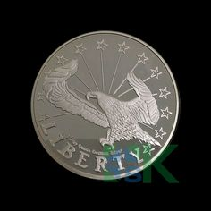 Germany Liberty eagle commemorative coin brass with silver plated coin