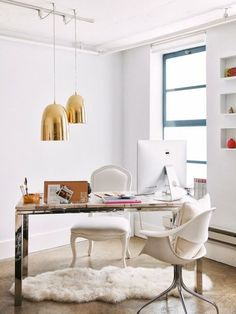 Office Inspiration - golden lamps