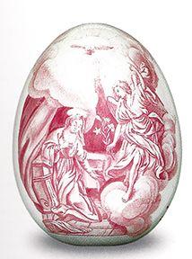 Easter egg, Imperial Porcelain Factory, St Petersburg, ca. 1760.