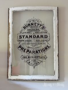 Vintage Window Painting | Hearts & Sharts |