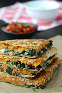 Sweet Potato & Kale Quesadillas | The Foodie Physician
