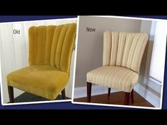 Reupholstering a Channel Back Chair - YouTube