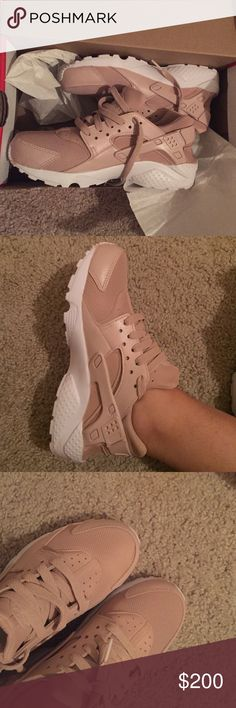 Womens Huaraches Pink These are custom huaraches I usually wear a size 6.5 in Womens usually which is equal to a kids 4.5 which is what size these are but they are too small for me. These have never been worn I got them for Christmas and am only selling them so I can use that money to get the next size up. The color is pretty it's like a light pink mauvy color. These run small so I would think they'd fit better if your a 6 normally. Shoes Sneakers