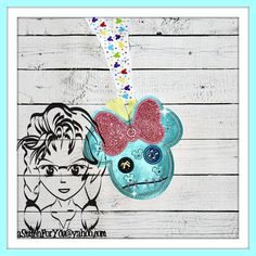 Rag Doll Jack Skeleton Girl Friend Sally ~ Pin Lanyard Display Mouse HeaD Trader ~ ITH Mr Miss Mouse Inspired Photo Prop ~ INSTANT Download Design by Carrie aStitchForYou on FB & Etsy