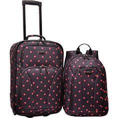U.S. Traveler 2-Piece Polka Dot Carry-On Rolling Upright and Backpack Luggage, http://www.amazon.com/dp/B00C1QUWZY/ref=cm_sw_r_pi_awdm_lf2aub0SJ6DDJ