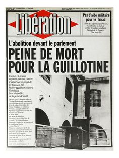 Death penalty abolition, France 1981