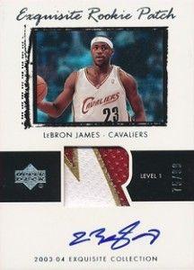 2003-04 Upper Deck Exquisite-Exquisite Autographed Patch LeBron James /99 Rookie Card