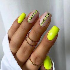 Neon Nails, Purple Nails, Neon Nail Art, Yellow Nails, Pastel Nails, Neon Yellow, Glitter Nails, Stylish Nails, Trendy Nails