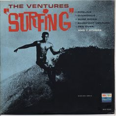 60s and 70s Rock Album Covers | close the ventures surfing lp