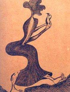 A Bruxa dos tempos / 1967 / Nanquim sobre papel pardo / 0,338x0,529 m :imagem 18