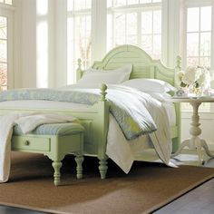 Stanley Furniture Coastal Living Summerhouse Bedroom Set with Table Coastal Bedrooms, Coastal Living, Pink Bedrooms, Bedroom Sets, Home Bedroom, Bedroom Beach, Shabby Bedroom, Serene Bedroom, Bedroom Decor
