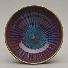 """From the Harding Black Collection at Baylor University - mid-career, 1969 - Wheel-thrown stoneware w/flame glaze 2.5"""" x 8"""" x 8"""""""