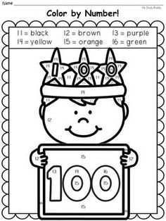 100th Day Of School Coloring Pages Kingergarten Pinterest 100th Day Of School Coloring Pages