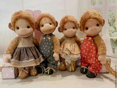Купить Обезьянки 3 , рыженькие - рыжий, обезьянка, обезьяна, символ года, подарок, друзьят тедди