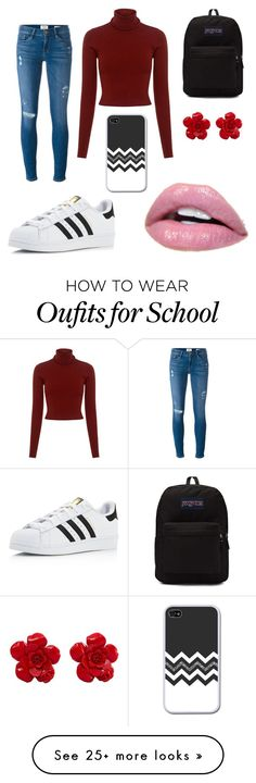"""""""School"""" by hxnnxhhexrts on Polyvore featuring Frame Denim, A.L.C., adidas, JanSport and Chanel"""