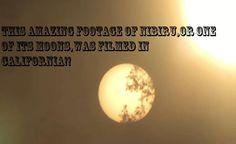 Um dos Melhores Registros de NIBIRU, ou uma de suas Luas foi Filmado na Califórnia!!