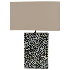 Safavieh Athena Blue Mother Of Pearl Table Lamp | Overstock.com