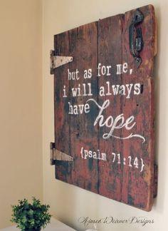 Reclaimed Door with Bible Verse
