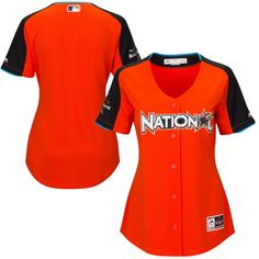 35ea32fef National League Majestic Women s 2017 MLB All-Star Game Home Run Derby Team  Jersey - Orange