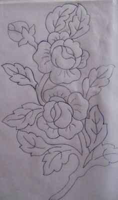 Hand embroidery all over design for dress Floral Embroidery Patterns, Hand Embroidery Stitches, Crewel Embroidery, Hand Embroidery Designs, Ribbon Embroidery, Fabric Paint Designs, Fabric Painting, Painting Patterns, Body Painting