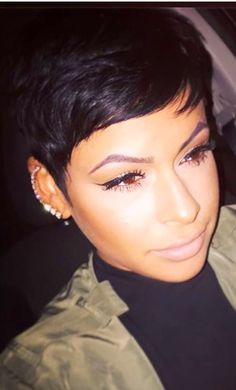 Love Black hairstyles with bangs? wanna give your hair a new look? Black hairstyles with bangs is a good choice for you. Here you will find some super sexy Black hairstyles with bangs, Find the best one for you, Short Sassy Hair, Cute Hairstyles For Short Hair, My Hairstyle, Pixie Hairstyles, Short Hair Cuts, Short Hair Styles, Natural Hair Styles, Pixie Cuts, Black Hair Pixie Cut