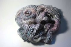 Silk Halo in Grey Mother of Pearl by Lichtfaden on Etsy