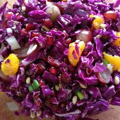 "Purple Cabbage Salad | ""This salad was a huge hit. It's the perfect blend of crunchy, tart, and sweet."""
