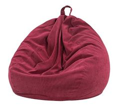 Nobildonna Stuffed Storage Bird's Nest Bean Bag Chair (No Filler) for Kids and Adults. Extra Large Beanbag Stuffed Animal Storage or Memory Foam Soft Premium Corduroy (Red) #CuteGiftIdeas #Gift #LazySofa