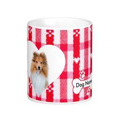 #Custom #Heart Shaped #Sheltie #Dog #Coffee #Mug 11 oz #animal #pet #love #gift #petgifts