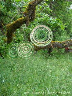 Eugene, Oregon basket weaver and fiber artist, Donna Sakamoto Crispin, created these beautiful reed mandalas as part of the Mount Pisgah installation for the recent wildflower festival. What a deli… - Das Mandala-Projekt - Pin Theme Nature, Deco Nature, Land Art, Ephemeral Art, Art Sculpture, Metal Sculptures, Abstract Sculpture, Bronze Sculpture, Mandalas Drawing