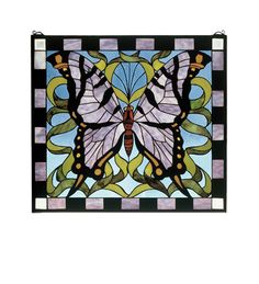 Meyda Tiffany 46464 Butterfly Stained Glass Window