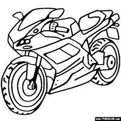 Ducati Sportbike Motorcycle Online Coloring Page