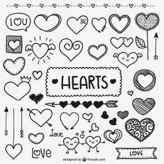 Doodle do coração dos namorados                                                                                                                                                                                 Mais
