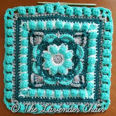 Wildflower Mandala Square - Free Crochet Pattern - The Lavender Chair (12)