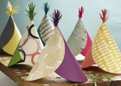 Ever wonder what all you can do with our wraps and fine paper. From making a package look pretty to decorating your home, we've got your fine paper crafts covered! New Year's Eve Hats, Easy Crafts, Crafts For Kids, Origami, Silly Hats, Fine Paper, Paper Paper, Crepe Paper, Holiday Hats