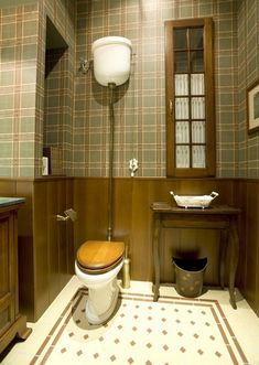 Traditional bathrooms continue to be popular - High level cisterns are a key feature in many period settings.