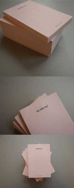 It's a simple and lovely notepad suited for any situation! I always place it on my desk to write memos or messages!