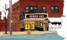 Lovely drawings of my adopted hometown.  My husband and I had our first date at Parnell's.