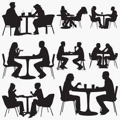 restaurant siluetas sitting personas sentadas silhouettes couple sylwetki silhouetten vector sentada silhouette freepik gratis restaurante een paar kinder vektoren affari