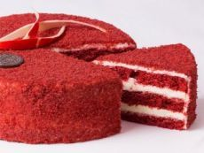 "Cake ""Red Velvet"" – a step-by-step recipe in … - Red Velvet Cake Apple Desserts, Fun Desserts, Brownie Recipes, Cake Recipes, Velvet Cake, Red Velvet, Cake Cookies, Cupcakes, Death By Chocolate Cake"
