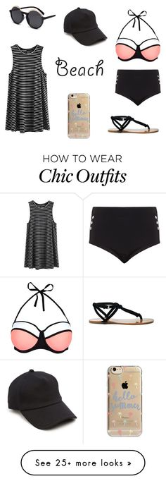 """Beach day"" by irmacamo on Polyvore featuring Cactus, New Look, rag & bone, Agent 18, Sole Society, beach and summerdate"