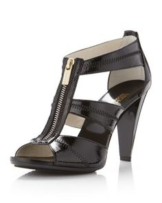 <3 I LOVE AND HAVE!!! Berkley Patent T-Strap Sandal by MICHAEL Michael Kors at Neiman Marcus.